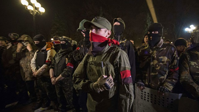 "Archive photo, ""Right Sector"" unit"