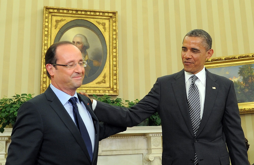 Hollande and Obama (Photo credit: JEWEL SAMAD/AFP/GettyImages)