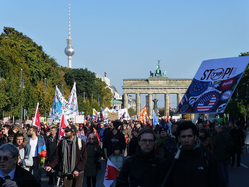 Anti-TTIP demonstration in Berlin. October 2015.
