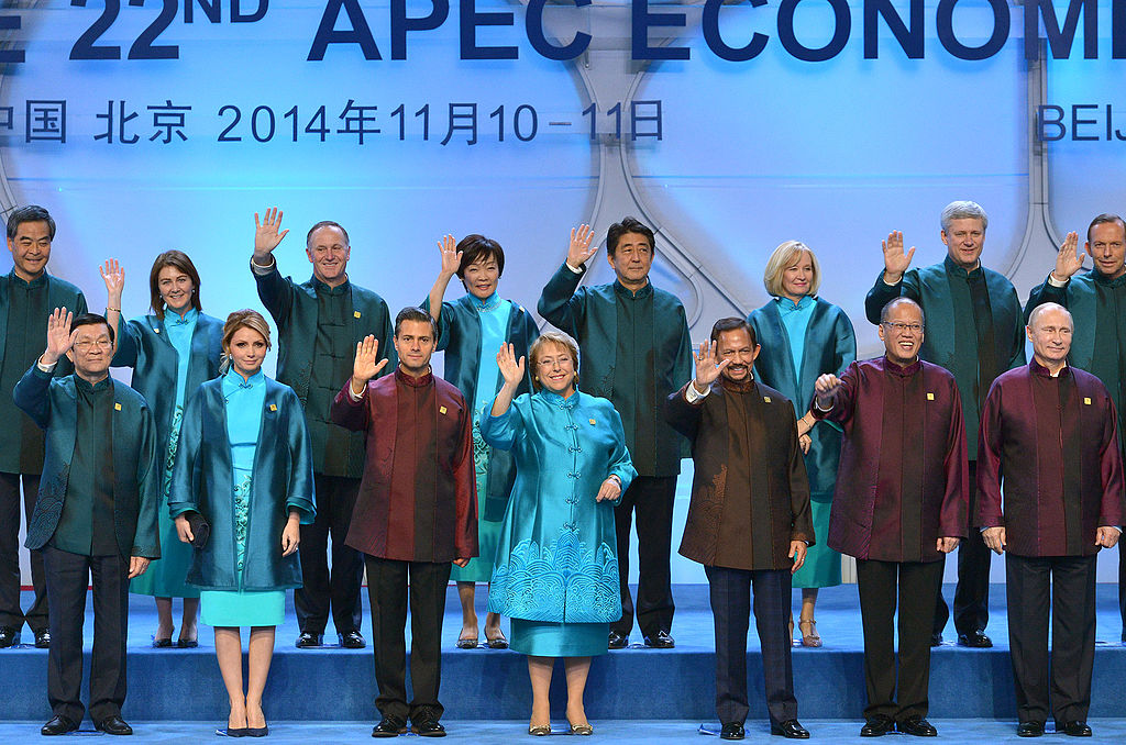 Traditional APEC countries leaders' picture. 2014.