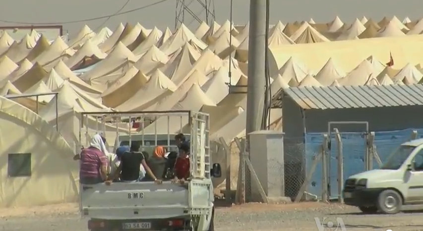 Refugee camp on Turkish border. 2012.