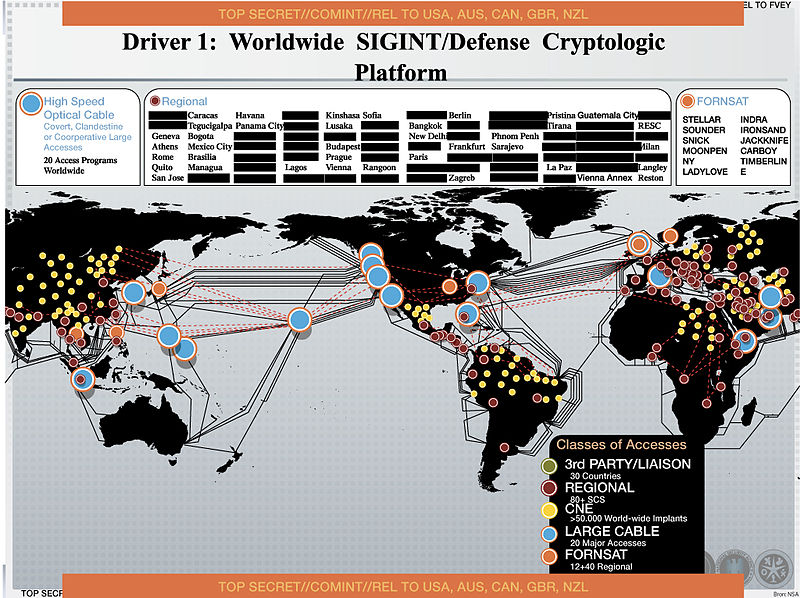 NSA document dating from 2012 explains how the agency collects information worldwide.