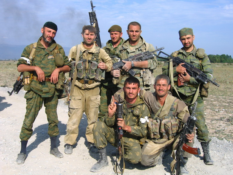 Members of the Vostok Battalion, the unit Texas just joined. (Wiki Commons)