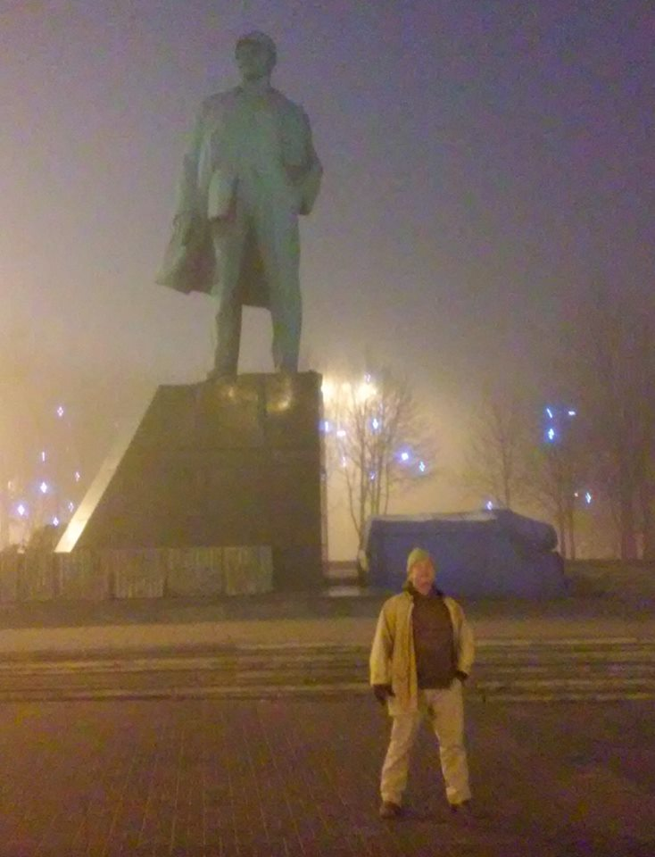 The Lenin Square in Donetsk. Statues of the great revolutionary are being defaced and desecrated all over Ukraine, especially in Kiev and Lviv, but not in Novorossiya, where the spirit of collective solidarity endures.