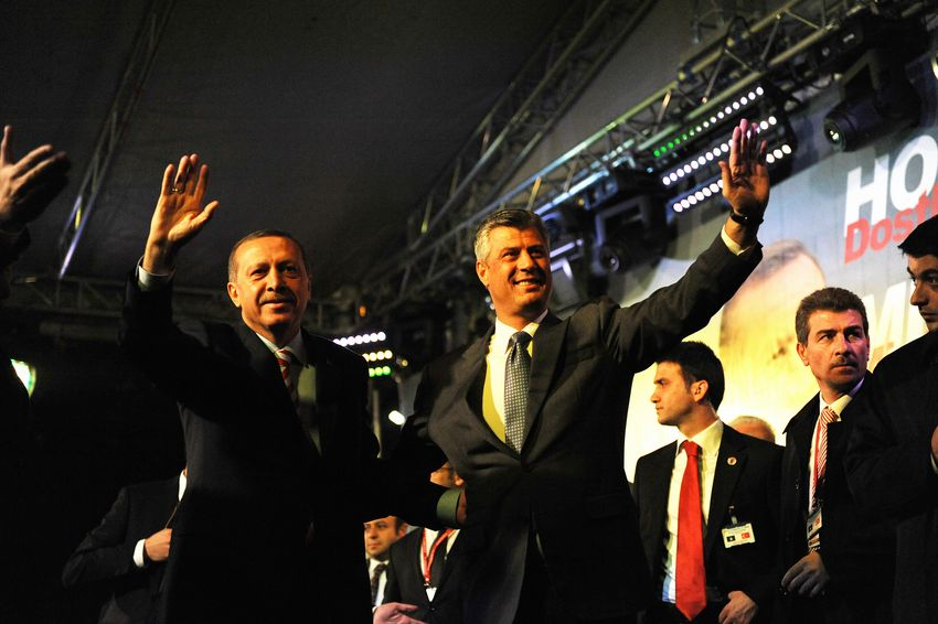 Then-Prime Minister of Turkey Erdogan and then-Prime Minister of Kosovo Thaci. November 2010. In December 2010 the human organ smuggling allegations made by Carla Del Ponte against Kosovo Prime Minister Hashim Thaci were confirmed in 2010 by the Council of Europe. He was also accused of drug and weapon smuggling. PACE voted to adopt a resolution based on the report. Numerous other evidence confirm the accusations against Thaci and others. The organs, according to the Council of Europe, were later shipped to Turkey. Turkey was one of the first countries to recognize Kosovo's independence. Thaci currently continues to work in the government of Kosovo as Foreign Minister and Deputy Prime Minister.