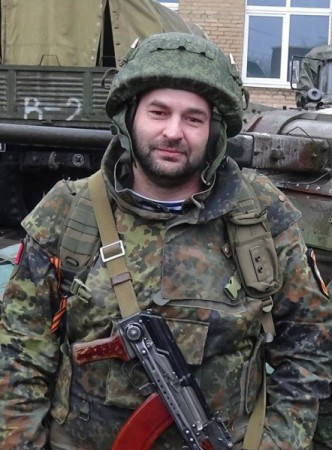 """Volga, the commander of """"Essence of Time"""" combat unit in Donbass."""