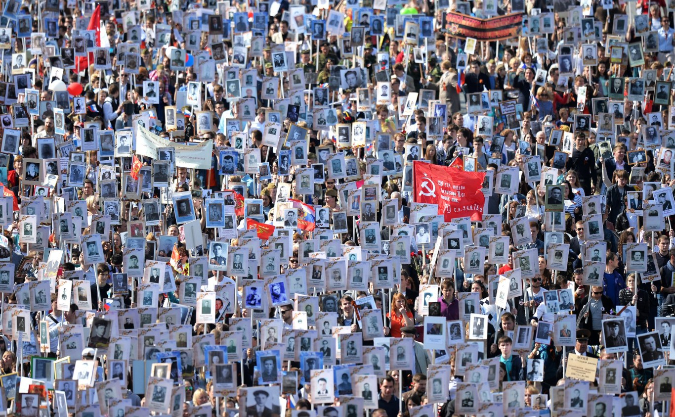 "This event was called the ""Immortal regiment"" - those who gave their lives for the greater future are never gone forever."