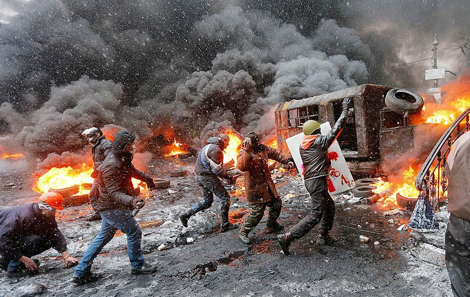 Kiev, January 22, 2014. Photo courtesy: Efrem Lukatsky, AP