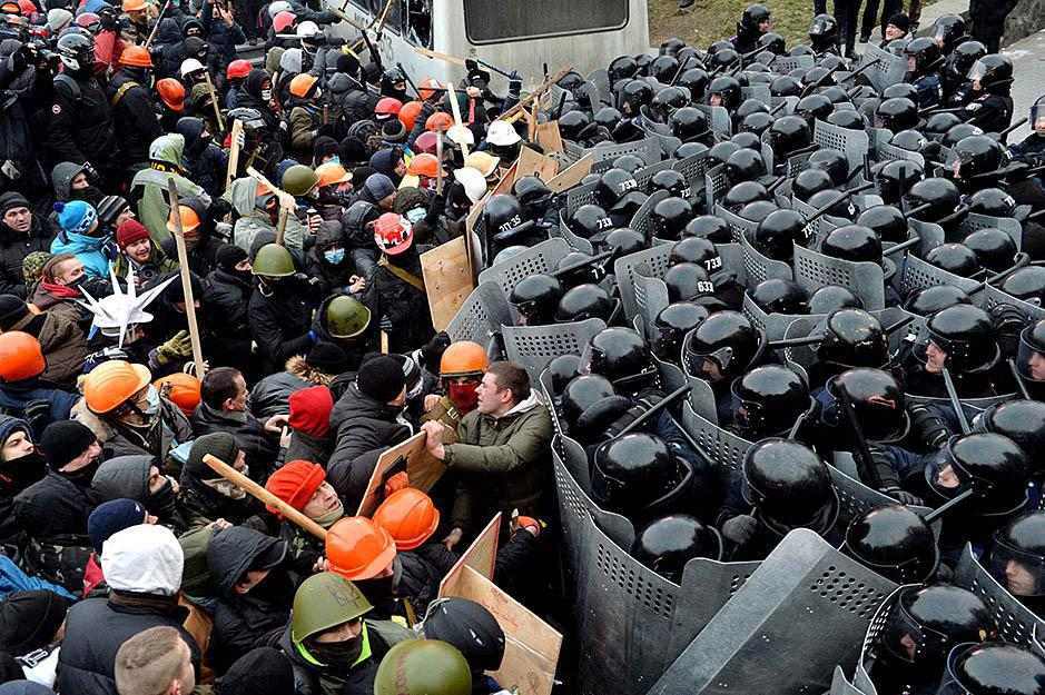 Kiev, January 19, 2014. Photo: Sergei Supinsky, AFP