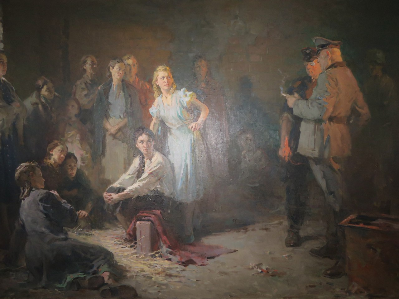 """Nazi slaves"". Painting hanging in Donetsk museum. (Courtesy of the author. Be sure to click on image for best resolution.)"