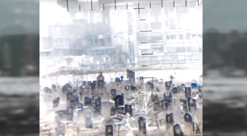 Cemetery near the Donetsk airport