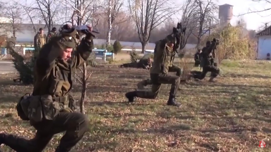 """Essence of Time"" unit training exercise. Still from the video ""In memory of the heroic defenders of Donetsk Airport"""