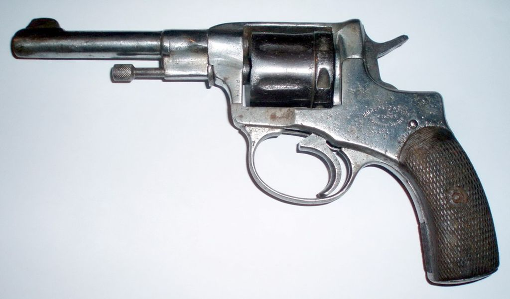 "Nagant revolver. ""Rumyn"" helped repair a similar one released in 1943 during his service in the weapons storage of DPR army."