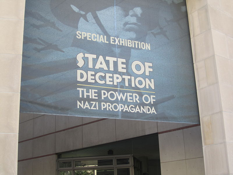 """State of Deception"" Nazi propaganda exhibition at the United States Holocaust Memorial Museum in 2011. Photo by Billy Hathorn, CC 3.0"