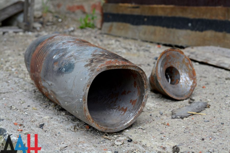 Ukrainian shell in Dokuchaevsk, May 17 shelling aftermath. Archive photo © Donetsk News Agency