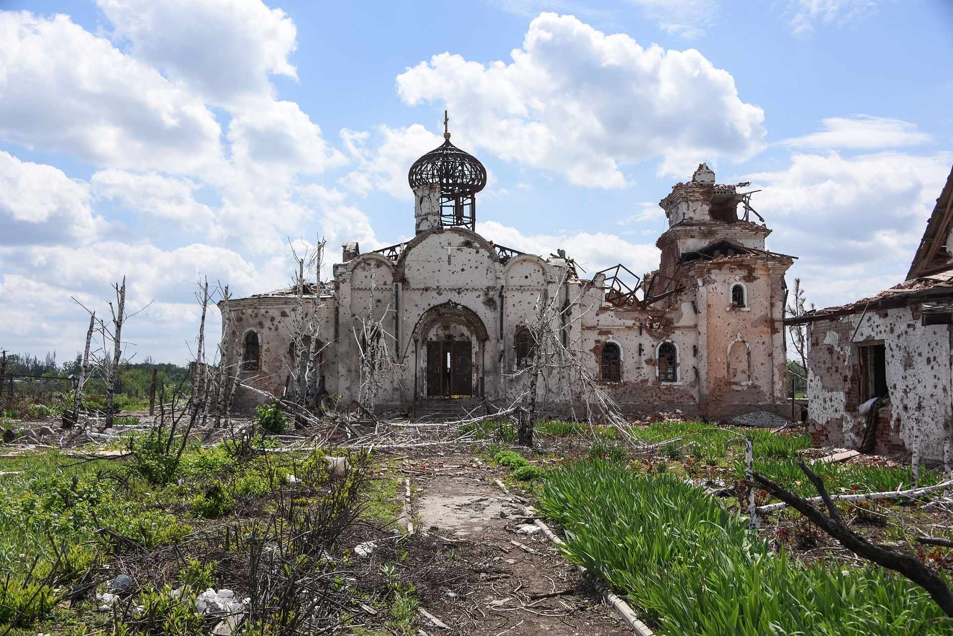 What the war has done to the Iversky monastery. A war of choice triggered by Western intrigues and plots against Russia. (Wiki photo CC)