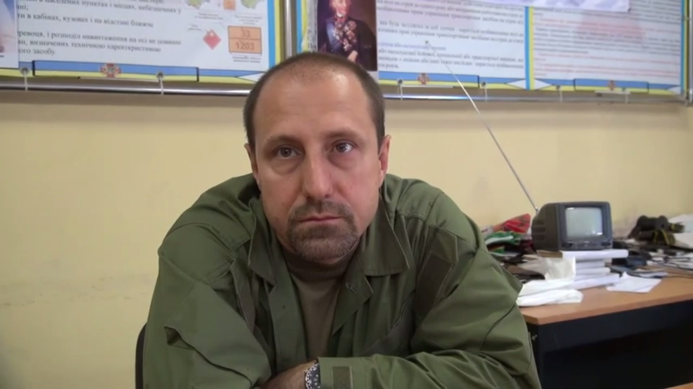 "Aleksandr Khodakovsky (call sign ""Scyth""). Still from EoT TV Issue 10. July 10, 2014"