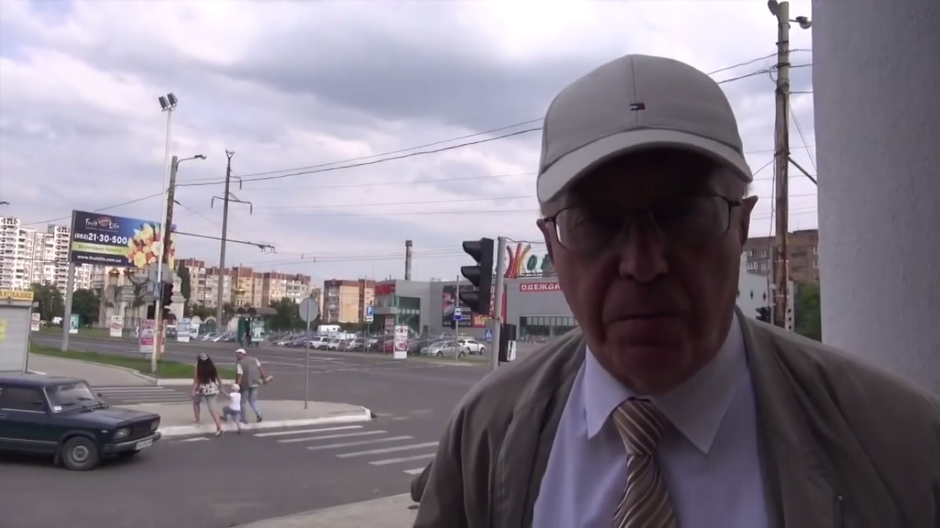 Sergei Kurginyan in Donetsk. Still from EoT TV-DPR Issue 2. July 5, 2014.