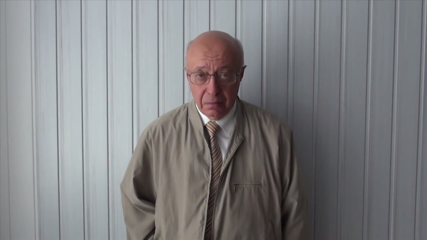 Sergei Kurginyan in Donetsk. Still from EoT TV-DPR Issue 1. July 5, 2014.
