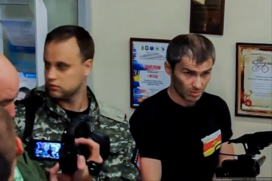 "Pavel Gubarev (left) and Alan ""Koba"" Mamiev (right)"