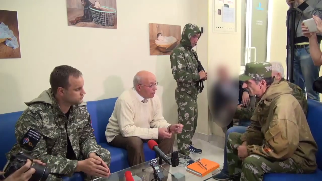 """Volk"" standing between and Strelkov's representatives."