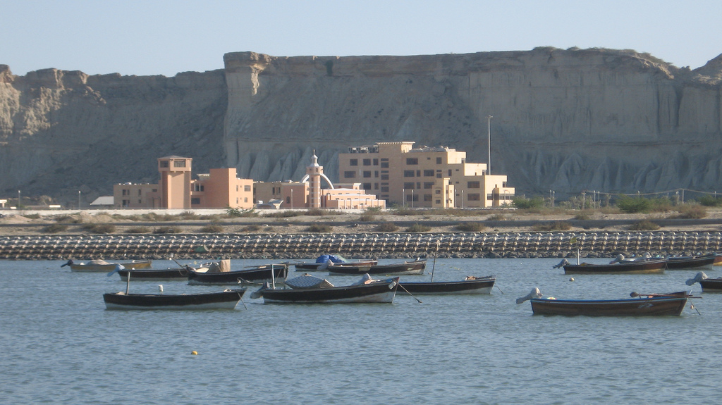 Offices of the Gwadar Port Authorityю 2011, photo by  Moign Khawaja, licensed under CC BY-NC 2.0