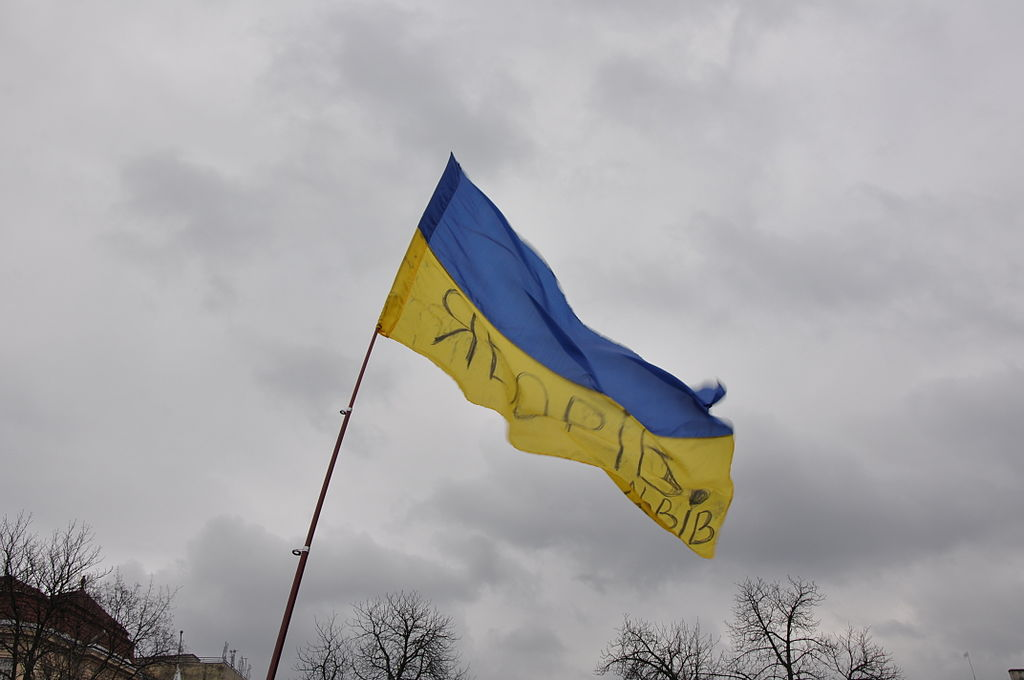 Protests in Lvov, Ukraine, so called Euromaidan, photo by DixonD, licensed under CC BY-SA 3.0