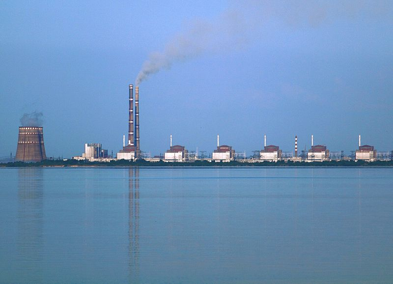 Zaporozhye nuclear power plant, Ukraine photo by Ralf1969, licensed under CC BY SA 3.0