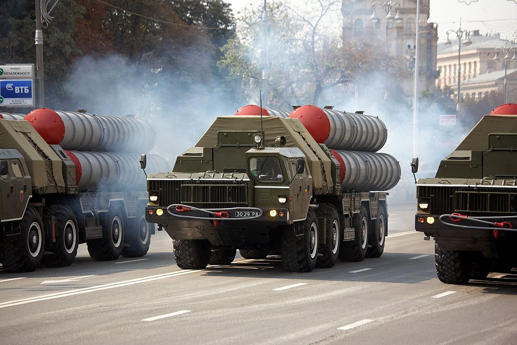 Ukrainian S-300P launchers during the Independence Day parade in Kiev, Ukraine in 2008. photo by Michael - Parade @ Kiev, licensed under CC BY 3.0