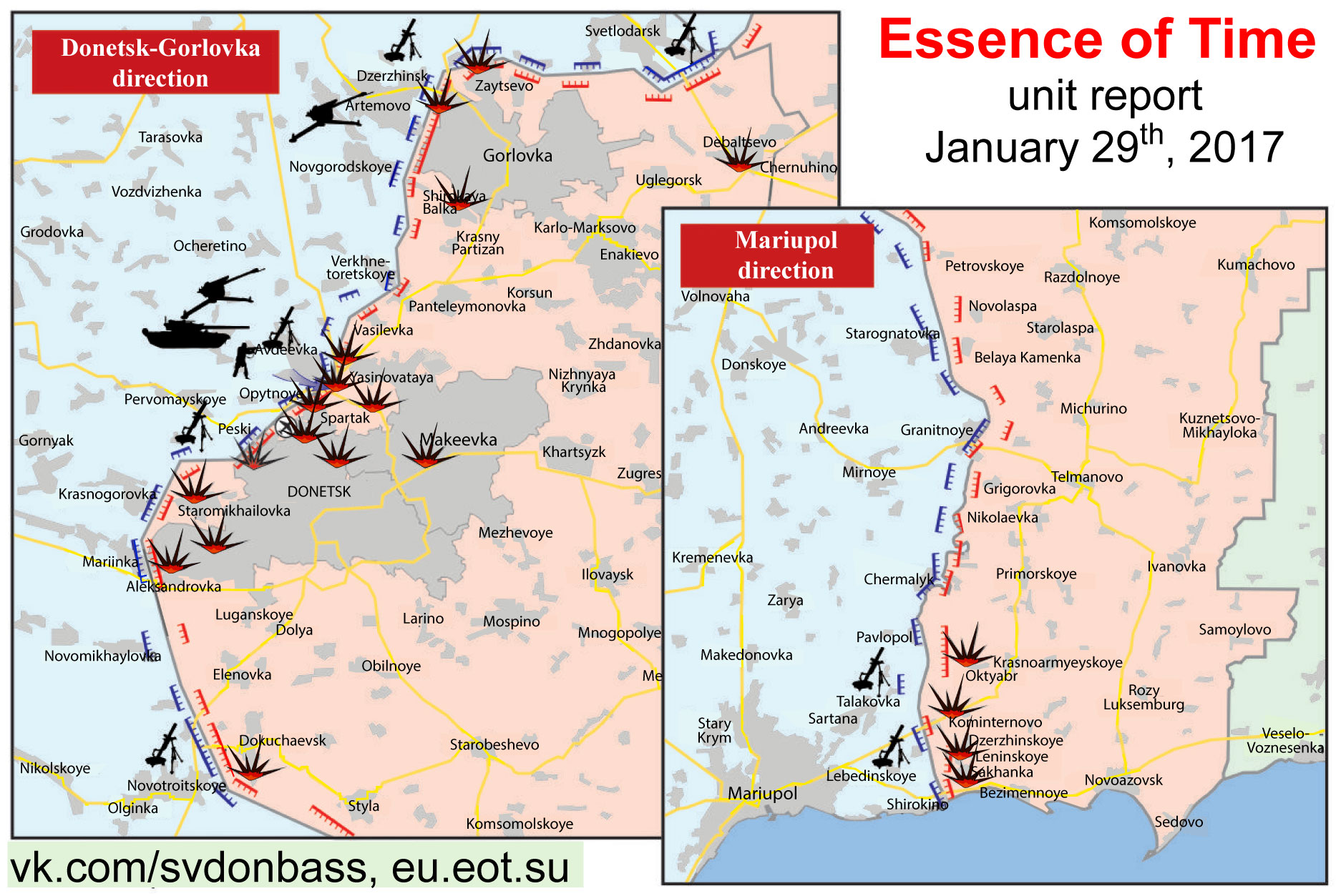 January 29 Essence of Time unit in Donbass situation report with