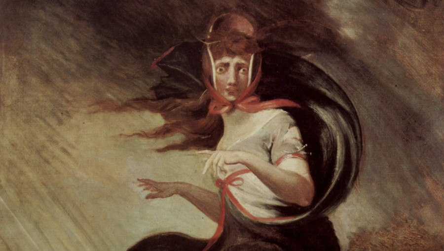 Johann Heinrich Füssli. The mad Kate (fragmento)