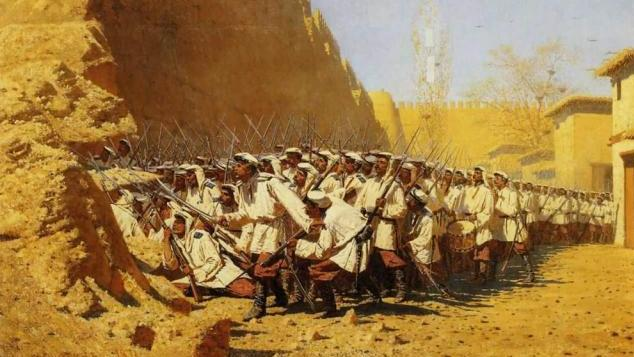 """""""At the Fortress Walls: Let Them In!"""" by Vasily Vereshchagin, 1971"""