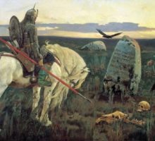 """Knight at the Crossroads"" by Viktor Vasnetsov. 1882"